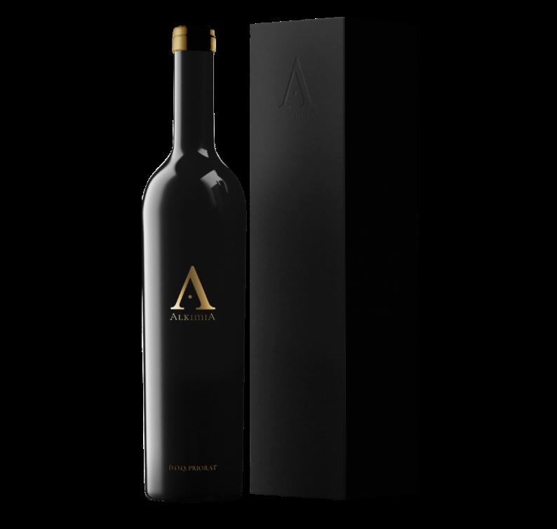 Imagen Botella y caja Alkimia Wines