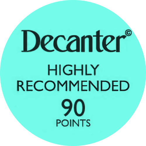 Logo medalla Decanter90 Points