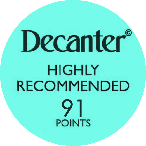 Logo medalla Decanter91 points