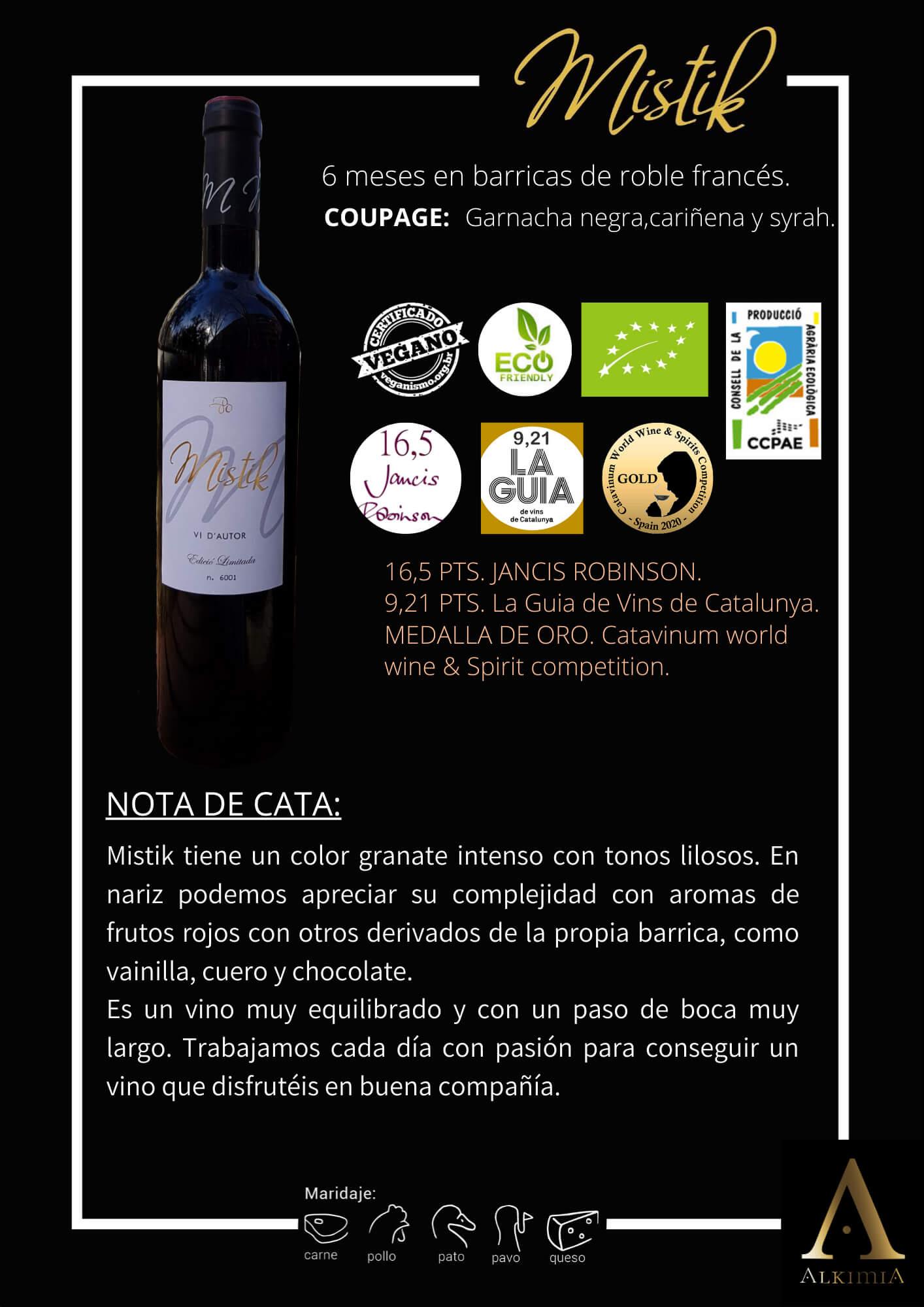 Imagen Nota de cata botella Mistik 6m CAST