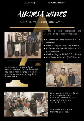 News 08 Cast Alkimia Wines Cata de Vino con IGUALAVINS
