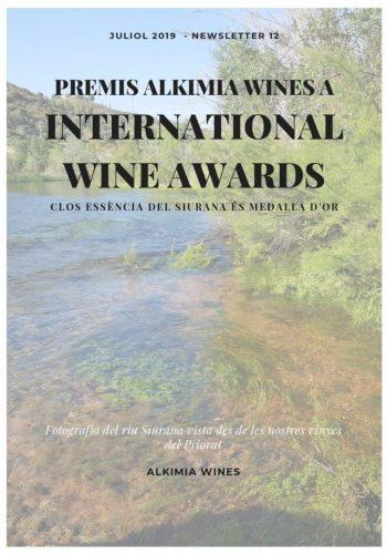 News 12 Cat 1 Premis Alkimia Wines a INTERNATIONAL WINE AWARDS