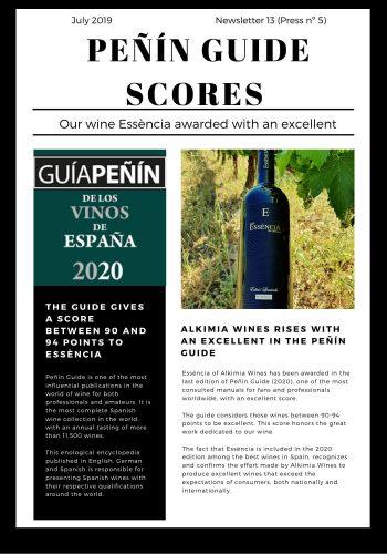 News 13 Guía Peñín ENG peñin Guide Scores