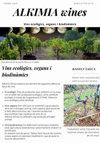 News 15-1 CAT vins ecologics, vegans i biodinamics