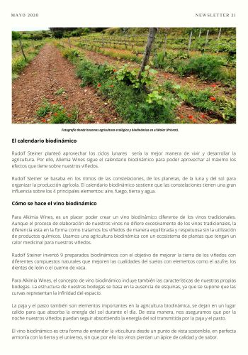 News 21-2 CAST El calendario biodinamico