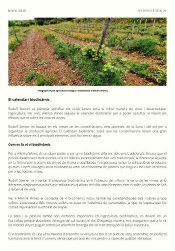 News 21-2 CAT El calendari biodinamic