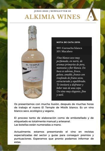 News 23 CAST EL TEMPLE DE MISTIK BLANC Nota de Cata