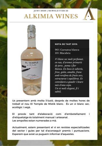 News 23 CAT EL TEMPLE DE MISTIK BLANC Nota de Tast