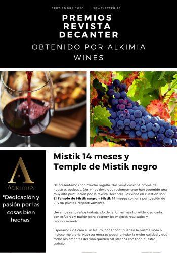 News 25-1 CAST Mistik 14 meses Y temple de Mistik Negro Premios Revista Decanter