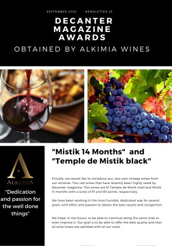 News 25-1 ENG Mistik 14 months Decanter magazine Awards