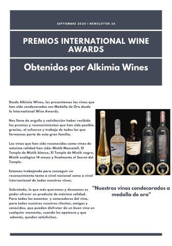 News 26-1 CAST premios International Wine Awards