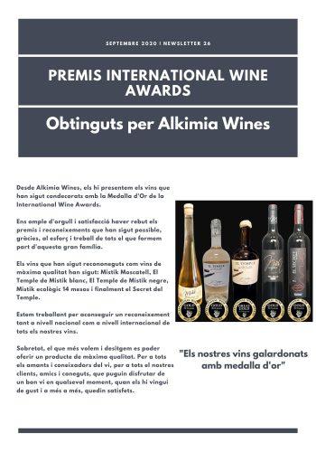 News 26-1 CAT Premis Internacionals Wine Awards