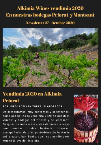 News 27 CAST-1 Vendimia 2020 en Alkimia Priorat
