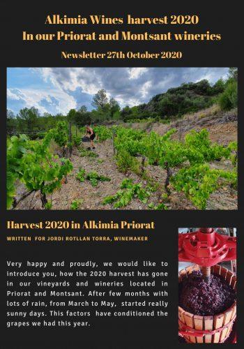 News 27 ENG -1 Alkimia Wine harvest 2020 Montsant